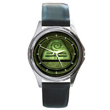Avatar The Last Air Bender earth book crest ultimate leather wrist watch