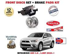FOR MITSUBISHI ASX 1.6 1.8DT 2010->NEW FRONT BRAKE DISCS SET + DISC PADS KIT