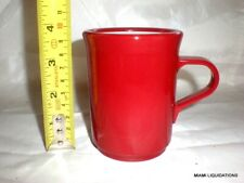 Lot of 36 valiant coffee mug 8oz retro vintage red Continental Carlisle 8006
