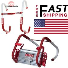 Portable Emergency Fire Escape Ladder 13ft L 2 Story Rope Metal Window Safety