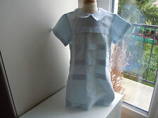 robe tartine et chocolat 4 ans 51% de lin impeccable bleu pale tres classe