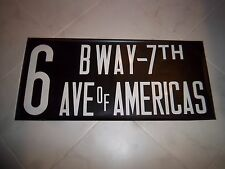 NEW YORK CITY NYC TRANSIT BUS ROLL SIGN COLLECTIBLE BWAY 7TH AVE OF AMERICAS NY
