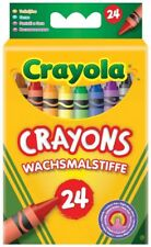 24 Crayola Crayons Assorted Colours Colouring Wax Crayons Art Drawing!