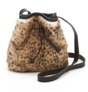August The Mini Colonia Bucket Bag - Fluffy cheetah