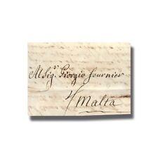 1765 Turin Torino Italy to Malta Entire Letter Cover Postal History #004915