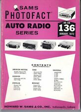 Sams Photofact-Auto Radio Manual/#AR-136/First Edition-First Print/1973