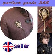 Game Of Thrones Mano Del Rey Broche Pin auténtico y detallado Insignia Replica