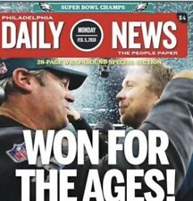 philadelphia eagles Super bowl Daily News Paper 2018