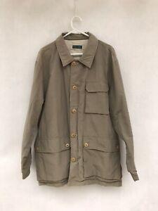 ☘️ Mens Rodd & Gunn Cotton Two Way Waterproof Cargo Jacket Coat Khaki Size L