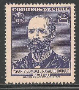 Chile #284 (A136) VF MINT LH - 1954 2p Admiral Arturo Prat Chacon