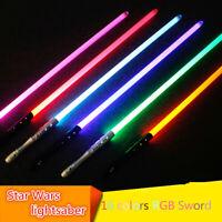 Star Wars Jedi Sith Luke Force Led Lightsaber Blade Sword Rechargable Fight Toys