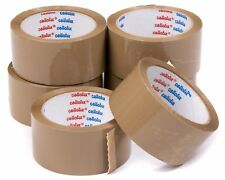 "36 x CELLOFIX PACKING PARCEL TAPE ROLL BROWN BUFF TAPE 48MM 2"" X 66M BARGAIN"