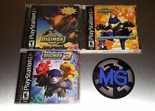 Digimon World 1 + 2 + 3 Lot ☆☆ Complete w/ MINT CASES ☆☆ - PS1 Playstation 1