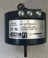 Variador Transformador TENSION 0/50 v 4 A 50 Hz VDT220 88 mm JESIVA Hecho España