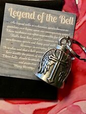 Cross Wing Bell Of Good Luck gift fortune chi pet keychain spiritual Jesus Lord