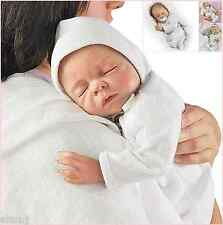 Ashton Drake Cherish lifelike newborn baby doll FREE dummy and bracelet