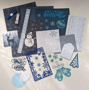 6x6 Blue Christmas inch Scrapbook Album Kit (#02)