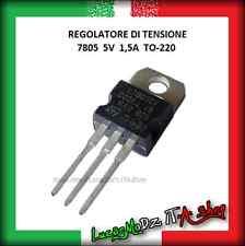 5 pz Regolatore Tensione 7805 5V 1.5A TO-220 L7805CV LM7805 Stabilizzatore