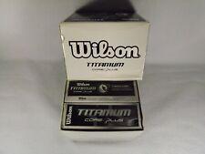 Wilson Titanium Core Plus Set of 18 Golf Balls Titanium Distance New In Box