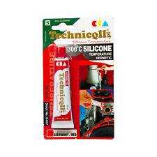 RED HIGH TEMPERATURE 300°C SILICONE LIQUID GASKET SEALANT 20ml Technicqll S037