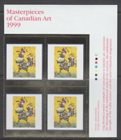 Canada #1800 95¢ Masterpieces of Canadian Art - 12 UR PLATE BLOCK MNH