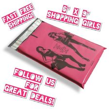 30 6x9 Pink Shopping Girls Designer Poly Mailers Boutique Shipping Bags Gift