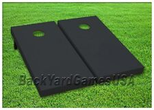 BLACK Cornhole Boards Custom BEANBAG TOSS GAME w Bags or Choose your COLOR  302