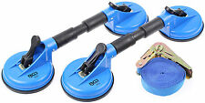 Glas Sauger Werkzeug Set 3-tlg Glasheber Scheibenträger Gummisauger Vakuumsauger
