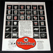 1927 OLD MAGAZINE PRINT AD, WHEELING CORRUGATED PRODUCTS, HAND DIPPED IN ZINC!