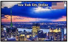 NEW YORK CITY SKYLINE - NEGOZIO DI SOUVENIR MAGNETE DEL FRIGORIFERO - NUOVO