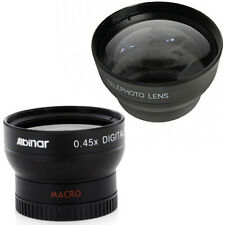Albinar 37mm Wide Angle Lens +Macro and Tele Lens for Sony HDR CX160 CX130 XR160