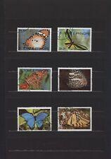 S.TOME E PRINCIPE TEMATICA FARFALLE ANNO 1990  USATI 6 VALORI COD.154