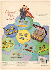 1940's Vintage ad for SWANK Gift sets Christmas Art Couple   072417