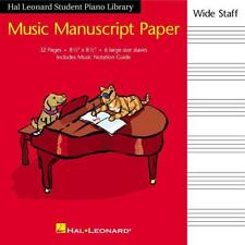 Music Manuscript Paper Wide Staff 32 page 6 stave book 215mm x 215mm Music Notat