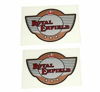 Fits Royal Enfield Bullet Winged Crown Tank Badge Sticker Set AUD