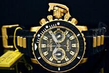 NEW Invicta SEA HUNTER TORPEDO 50MM SWISS MOVT 18K Gold Plated Chrono S.S Watch