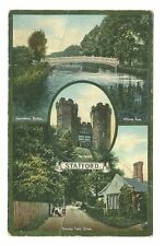 Stafford - a colour-added photographic multiview postcard