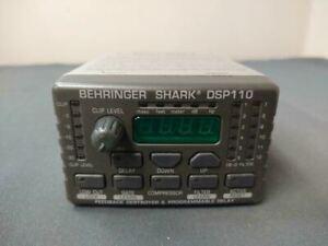 Behringer Shark DSP110 Gray Led Display Digital Multi Function Signal Processor