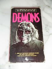 DEMONS VHS Horror Lamberto Bava Dario Argento