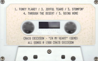CRAIG ERICKSON - IN MY HEART - 1988 DEMO CHRISTIAN METAL BLUES CUSTOM RARE!