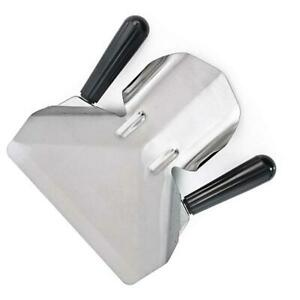 Heavy Duty Stainless Steel Catering Chip French Fry Bagger Scoops Twin Handle