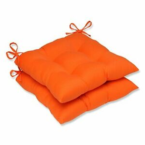 """Pillow Perfect Outdoor/Indoor Sundeck Tufted Seat Cushions Square Back 19"""" x ..."""
