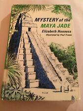ELIZABETH HONNESS Mystery of the Maya Jade vintage hardcover book