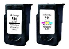 Refilled Ink Cartridges for 1 Canon PG 510 Black 1 CL 511 Color for PIXMA MP240