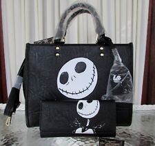 Nightmare Before Christmas Jack Loungefly Skellington Handbag Wallet Set NWT