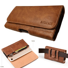 Brown Wallet ID Case Leather Pouch Holster Fits Iphone XR With Lifeproof Cover