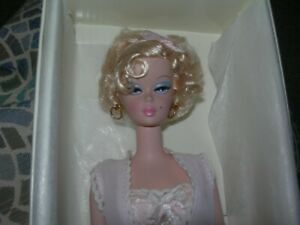 Cute curly silky blond hair Silkstone Barbie in Pink Lingerie