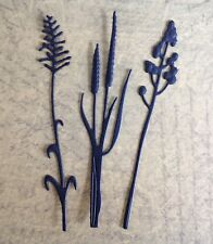 Foliage Die Cuts with Emboss Detail (3 designs) Black