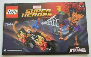 LEGO 76058 MARVEL SPIDER-MAN GHOST RIDER TEAM UP - **INSTRUCTION MANUAL ONLY**