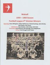 Walsall 1959-1960 rara mano originale firmato TEAM GROUP X 14 firme